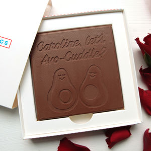 Personalised 'Avo Cuddle' Chocolate Card - novelty chocolates