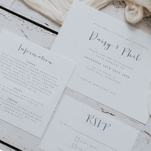 Amour Wedding Invitation Set - shoreline wedding trend