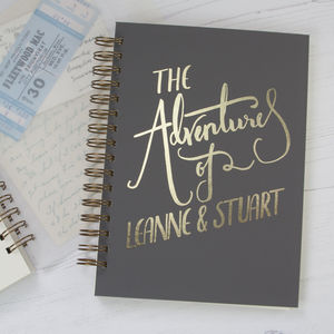 'The Adventures Of' Personalised Memory Book - best wedding gifts