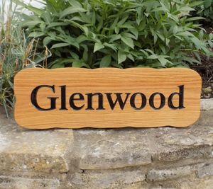 Personalised Oak House Sign - garden sale