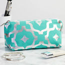 Metallic Makeup Bag In Teal