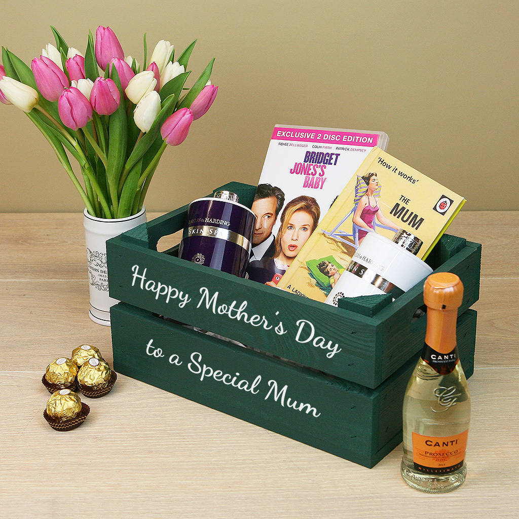 Personalised Mother S Day Gift Crate