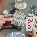 Personalised Playing Card Game Tin