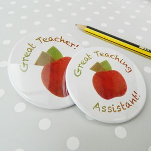 Best Teacher Badge - women's jewellery