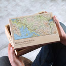 Personalised Map Location Memories Box For Him
