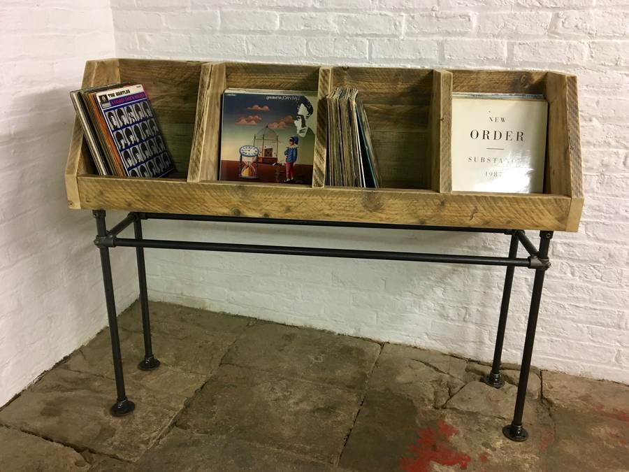 Portishead Reclaimed Timber Record Storage Unit