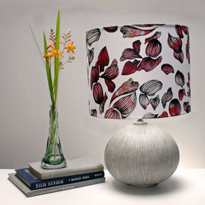 Inky Petal Floral Print Lampshade - lighting