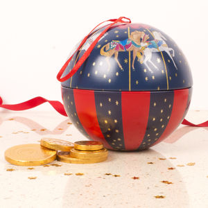 Christmas Bauble Of Chocolate Coins Carousel
