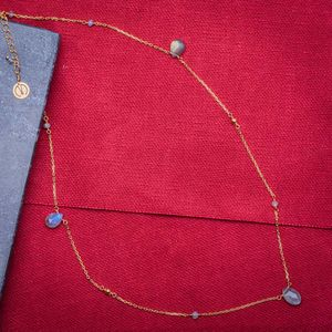 18ct Yellow Gold Plated Gemstone Necklace - gifts for mothers