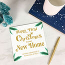Personalised First Christmas In Your New Home Card