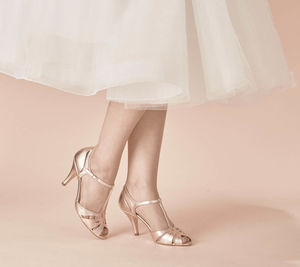 Wedding T Bar Sandals Ginger - bridal-edit