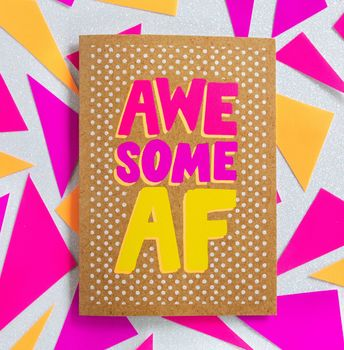 Funny Thank You Card | Awesome Af