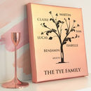 Personalised Metallic Rose Gold Family Tree Canvas