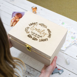 Personalised Floral Keepsake Box