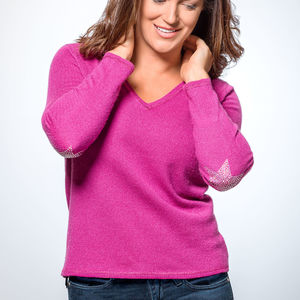 Cashmere Jumper With Swarovski Stars - women's fashion