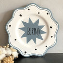Be Kind Hand Painted Decorative Scalloped Plate