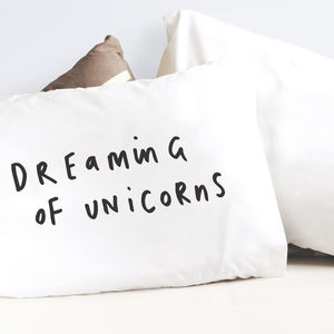 Dreaming Of Unicorns Pillow Case - bedroom