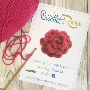 Crochet Flower Brooch Kit