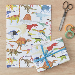 Dinosaurs Gift Wrap Four Sheets