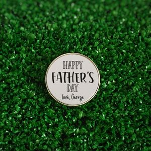 Personalised 'Happy Father's Day' Golf Ball Marker