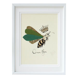 Queen Bee Giclee Art Print By Anna Wright - animals & wildlife