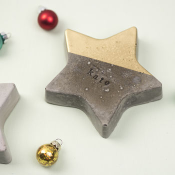Personalised Concrete Christmas Stars