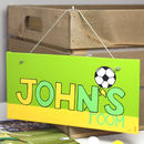 Personalised Football Team Canvas Sign