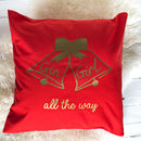 Gin Girl All The Way Personalised Christmas Cushion