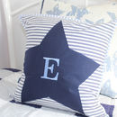 Personalised Navy Star Cushion
