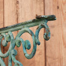 Vintage Forest Green Ornate Cast Iron Shelf Bracket