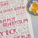 Yorkshire Tea Towel Red And Grey