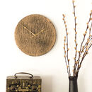 Round Slate And Gold Clock