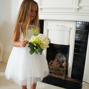 Annabelle ~ Flower Girl Dress In White