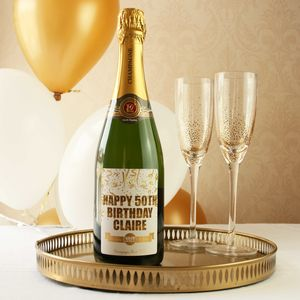 Personalised 50th Birthday Champagne Gift - champagne & prosecco