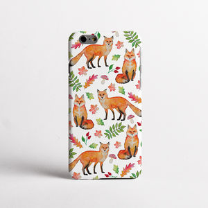 Foxes Print Phone Case Design - tech accessories for her