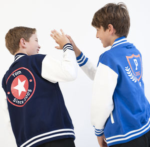 Child's Personalised College Varsity Jacket - clothing