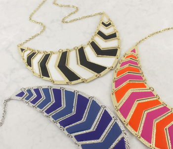 Statement Enamel Fishtail Necklace