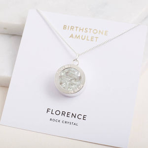 Birthstone Locket Necklace - 30th birthday gifts