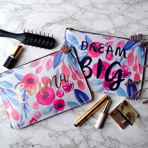 Dream Big Rose Gold Make Up Bag - make-up & wash bags