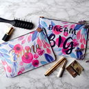 Dream Big Rose Gold Make Up Bag