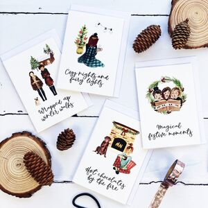Festive Favourites Christmas Card Pack Of Eight