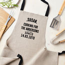 Personalised Cooking Since Linen Apron