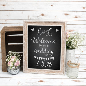 Welcome To Our Wedding Chalkboard Print - room decorations