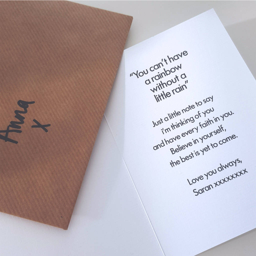 friend birthday card a6 card with ribbed kraft envelope by rich – Things to Say on Birthday Cards
