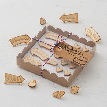 Decorative Wooden Map Push Pins