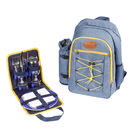 Snowdonia Couples Hikers Picnic Bag In Denim And Yellow