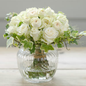 Luxury Buttermilk Garden Style Rose Knot Bouquet - fresh flowers