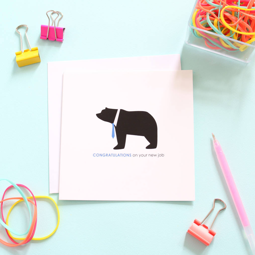 congratulations on your new job  card by heather alstead