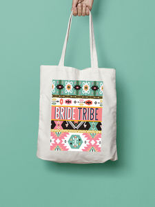 Bride Tribe Tribal Pattern Tote Bag