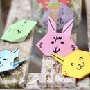 Personalised Bunny Message Token Set